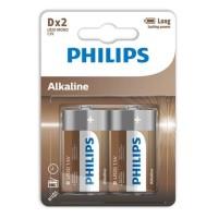 PHILIPS ALKALINE BATTERY D LR20 BLISTER*2