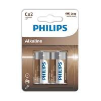PHILIPS ALKALINE BATTERIES C LR14 BLISTER*2