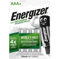 ENERGIZER RECHARGEABLE BATTERIES AAA4 BLISTER 4