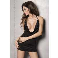 MIRACLE CHEMISE BLACK BY PASSION WOMAN LINGERIE S/M