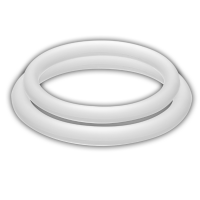 POTENZ DUO RINGS MEDIUM WHITE