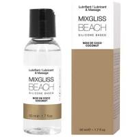 Лубрикант MIXGLISS BEACH SILICONE LUBRICANT COCONUT 50 ML