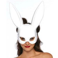 Маска зайче LEG AVENUE MASQUERADE RABBIT MASK WHITE