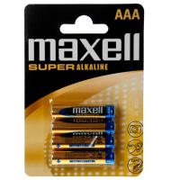 MAXELL  SUPER ALKALINE AAA LR03 4UDS