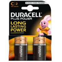 DURACELL PLUS POWER BATTERY C LR14 2 UNITS