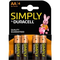 DURACELL BASIC BATTERY AA LR6 4UNITS