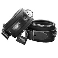 TOM OF FINLAND NEOPRENE ANKLE CUFFS WITH LOCK