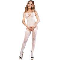 LE FRIVOLE - 04529 WHITE BODYSTOCKING S/L