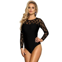 Секси боди SUBBLIME LONG SLEEVED BLACK TEDDY S/M