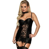 Корсет SUBBLIME FETISH STYLE AND FLORAL LACE CORSET S/M