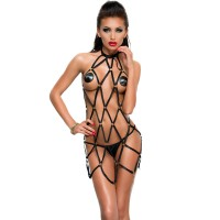ME-SEDUCE ANITA STRAPPY BLACK DRESS S/M
