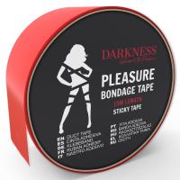 Червено тиксо за любовни игри DARKNESS STICKY TAPE 15M