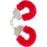 Червени белезници FURRY FUN CUFFS BONDAGE