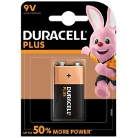 DURACELL PLUS POWER BATTERY 9V LR61 1UNIT