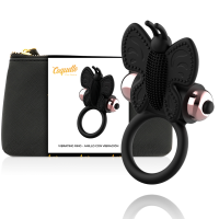 Вибратор COQUETTE COCK RING BUTTERFLY  WITH VIBRATOR BLACK/ GOLD
