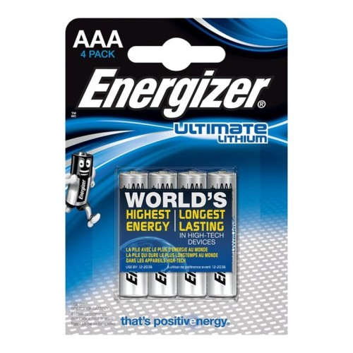 ENERGIZER ULTIMATE LITHIUM  AAA L92 LR03 1,5V *4