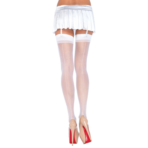 Бели секси чорапи за изкусителки размер S/M