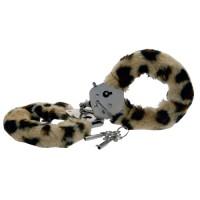 Плюшени белезници за секс игри с леопардов