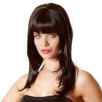 Дълга черна перука за изкусителки