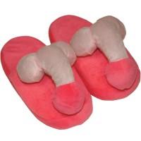 Забавни розови чехли с пениси