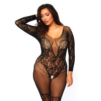 Секси боди Leg Avenue Vine Lace And Net Bodystocking UK 16 to 18